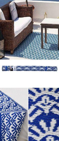 Tapis extérieur bleu | Solys | Tapis extérieur, Tapis