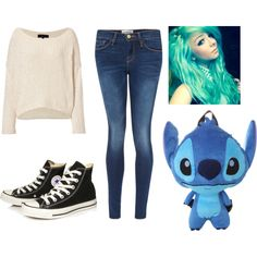 Untitled #358 by mustachemaniac03 on Polyvore featuring polyvore fashion style rag & bone Frame Denim Converse Disney