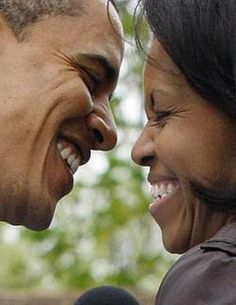 Barack and Michelle.  Comfortable and truly happy with each other.   What a wonderful role model for other couples in our nation!