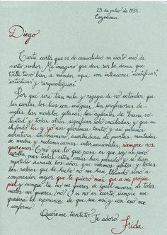 Carta de Frida a Diego