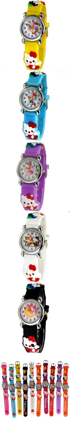 Hello Kitty watches 2016 New fashion watch children cartoon watches lovely Jelly relogio relojes Kids Watches reloj mujer