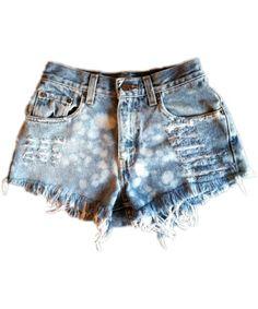 Vintage, cut off,  jeans,  shredded,  damaged,  fray,  grunge, omen eye, short, shorts $44.99