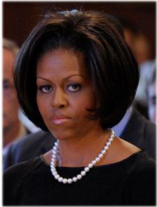 Michelle obamas lovely winged hair relaxed n regal pinterest michelle obama hairstyles google search pmusecretfo Images