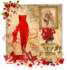 """The Colors: Valentino's Red !"" by fiordiluna on Polyvore"