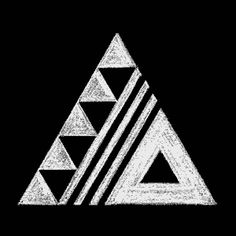 cool triangle design, simple and means change