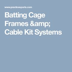 Practice Sports offers the best batting cage kits on the market. Indoor & outdoor retracatable cages for easy sliding & storage. Cage, Indoor Outdoor, Shed, Frames, Kit, Ideas, Frame, Thoughts, Barns