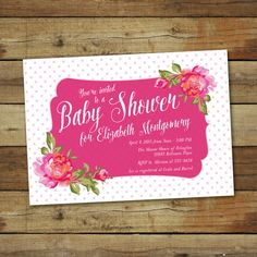Baby Shower Invitation Vintage rose baby by saralukecreative
