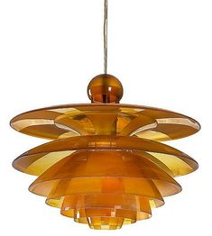 "PH-Septima Pendant with socket house of nickel plated metal mrk."", seven shades of amber coloured glass/painted frosted glass with alternate frosted fields. Manufactured 1928 by Louis Poulsen. Retro Lighting, Modern Lighting, Lighting Design, Lampe Art Deco, Art Deco Lamps, Mid-century Modern, Modern Design, Art Nouveau, Eileen Gray"