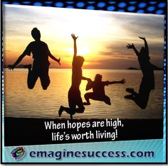If you don't have high hopes, don't expect amazing things. #highhopes #lifeisgood #bartism http://emaginesuccess.com