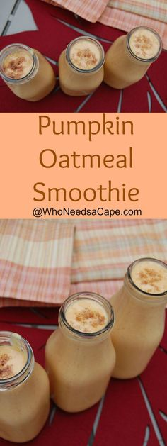 Pumpkin Oatmeal Smoothie is a great way to start your day in the Fall! Healthy…