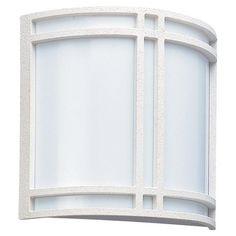 Seagull Lighting 2 Light 11'' White 2 GU24 Self Ballasted PLS13 13w Outdoor Wall Lantern with White Glass at Menards
