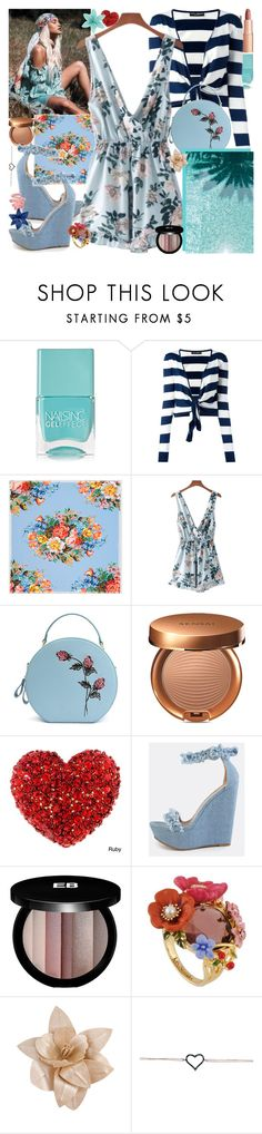 """Early Mornin' In The Dawn, Know You Wanna Ride Now"" by luvmrb61899 ❤ liked on Polyvore featuring Nails Inc., Charlotte Tilbury, Dolce&Gabbana, Gucci, Sensai, Edward Bess, Les Néréides and Forever 21"