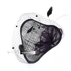 Women Purple Lace Victorian Gothic Fashion Dress Hats Headpieces Accessories SKU-158118