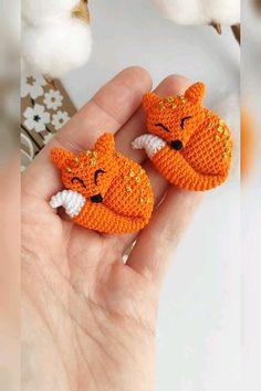 Sleeping fox brooch crochet pattern, Foxy Brooch pattern, Crochet brooch, Amigurumi brooch pdf/eng The Effective Pictures We Offer You About knit Crochet A quality picture. Crochet Brooch, Crochet Fox, Cute Crochet, Crochet Animals, Ravelry Crochet, Crochet Buttons, Easter Crochet, Crochet Patterns Amigurumi, Crochet Dolls