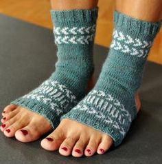 Fair Isle Yoga Socks