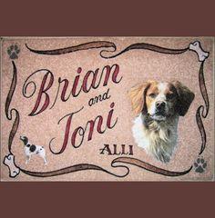 BORDER COLLIE personalized dog door mat,airbrush,doormat,pet gift ...