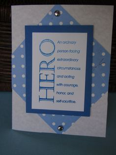 Rustic Blue Polka Dot Hero Quote Card by MangoLilies on Etsy, $1.99