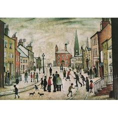 L S Lowry 1887-1976  A Lancashire Village 1935