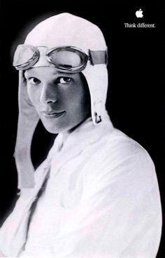 Amelia Earhart - Apple Think Different