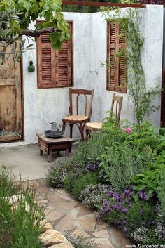 I would love to sit here in the morning and knit and eat berries from my garden.  :-)