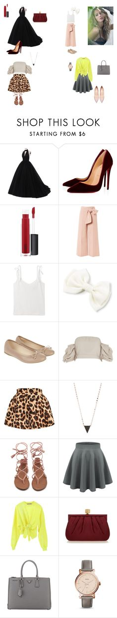 """""""Lawrence"""" by explorer-katie ❤ liked on Polyvore featuring Silver Lining, Christian Louboutin, John Lewis, Topshop, Accessorize, River Island, Lana, Ottolinger, Wilbur & Gussie and Prada"""