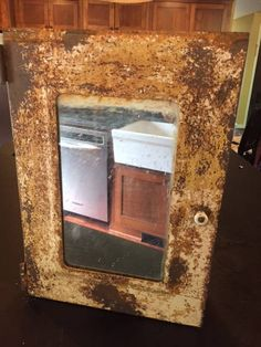 Vintage medicine cabinet rusted and toasty by KlaatusCloset on Etsy