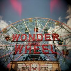 Perhaps the most famous and beloved Ferris wheel in the U.S. is the Wonder Wheel.  It was built in 1920 in Coney Island, and along with Nathan's hot dogs is an icon.  It is 150' tall with 24 cars that hold 144 riders.