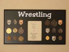 Wrestling Award Holder 18 Medal Black by WoodArtandMore on Etsy, $24.00