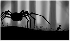 Scariest 2D, black and white game you will ever play. Beautiful game design.