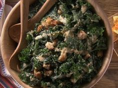 Spicy Kale Caesar Salad from CookingChannelTV.com