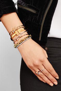Tiffany & Co | T Wire 18-karat white gold bracelet | NET-A-PORTER.COM