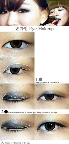 Great Asian Eye Make up Tutorials. (Website is actually great for Asian eye make up ideas. Hurray for being Korean!)