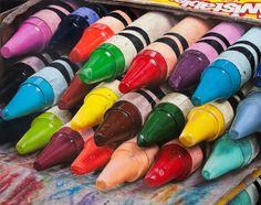 Crayons and Marks by Cesar Santander Color Pencil Picture, Color Pencil Art, Hyper Realistic Paintings, Great Paintings, Realistic Drawings, Hyperrealistic Drawing, Close Up Art, Art Assignments, Ap Studio Art