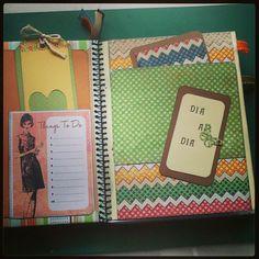 #agenda #scrapbook #scrap #gotasderocío #hechoamano #handmade #bigshot #paper #papel