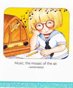 Music Mosaic Of The Air Vintage Table Radio Fridge Magnet Mary Engelbreit Art #AnyOccasion
