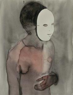 Françoise Pétrovitch / Sans titre / 2012 / 160 x 120 cm / Encre sur papier