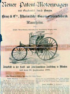 1888 Benz  Motorwagen patent
