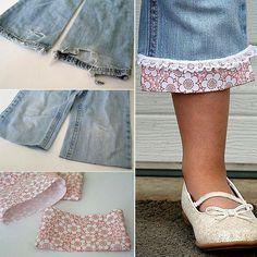 Hello, Qu'est-ce qui est indémodable, bleu et en coton? Eh oui le jean! La fin de l'été s'est rapprochée, La rentrée pointe le bout de son nez, C'est le moment de s'y préparer, Ouvrez votre garde-robe et customisez votre jean usé ! Voici mes petites perles du net: - Le blue-jeans ou jeans: <créateur : …