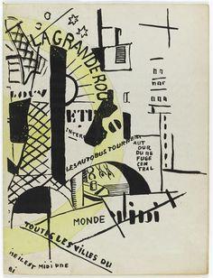 """Tiré à part de """"La fin du monde filmée par l'ange N-D"""" Fernand Léger et Blaise Cendrars, 1919."""
