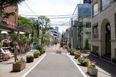 One of my favorite streets in Tokyo, Cat street of Omotosando. Great for walking, small boutique brands, etc