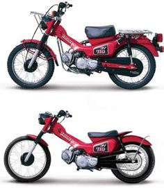 My proposed postie project. can't wait to hit the streets on it. Finished in matte black of course! Honda Cub, Scooter Motorcycle, Moto Bike, Honda Bikes, Honda Motorcycles, Classic Motors, Classic Bikes, Cb 500, Honda Scrambler