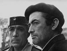 "Anthony Quinn & Gregory Peck  in ""Behold a Pale Horse""(1964)"