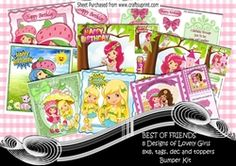 BEST OF FRIENDS  8 Designs of little girls bumper kit one on Craftsuprint - View Now!