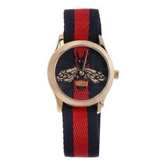 GUCCI Le Marché Des Merveilles 38mm watch ❤ liked on Polyvore featuring jewelry, watches, blue jewelry, stainless steel jewellery, gucci, gucci wrist watch and blue watches