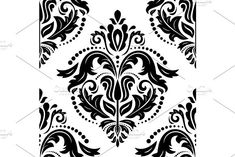 Oriental vector pattern with damask, arabesque and floral elements. Arabesque Pattern, Vector Pattern, Textured Walls, Abstract Backgrounds, Graphic Design, Damask Patterns, Floral, Oriental, Organic