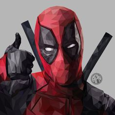 Image result for low poly deadpool Paint Chip Art, Polygon Art, Dead Pool, Marvel Series, Marvel Wallpaper, Marvel Fan, Cafe Design, Marvel Characters, Low Poly