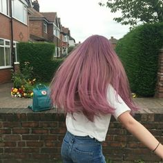 Inspiring Pastel Hair Color Ideas – My hair and beauty Dye My Hair, Your Hair, Aesthetic Hair, Cool Hair Color, Purple Hair, Ombre Hair, Hair Inspo, Hair Looks, Pretty Hairstyles