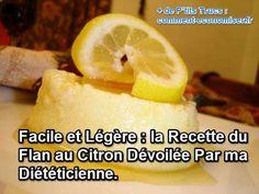 La recette simple et diététique du flan au citron léger