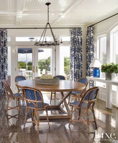 Breakfast Area - French Bistro chairs - A New Jersey Home Beach Haven