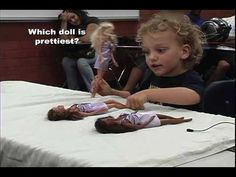 The Barbie Doll Test. I'm hoping the kid who said that all the dolls were bad was motivated by the impossible standards of beauty perpetuated by Barbie… an imperfect repetition of the original doll test, but interesting nonetheless.